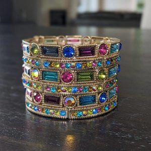 Off Park Goldtoned  Crystal Stretch Bracelets